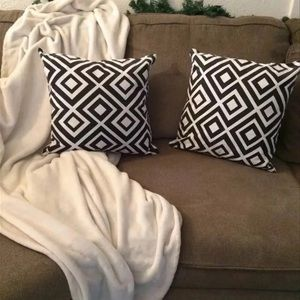 Other - White and black throw pillows covers